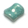 Glass Bead Twist 11x10mm Turquoise Marble Strung